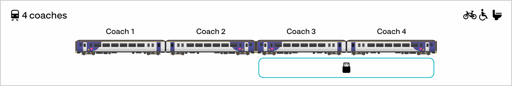 Two Northern class 156 units, with the rear unit possessing USB sockets