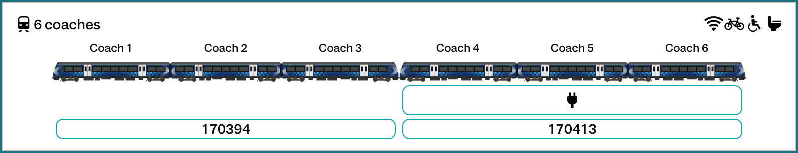 An example image showing a pair of class 170s, with different facilities, in the detailed mode on a service page